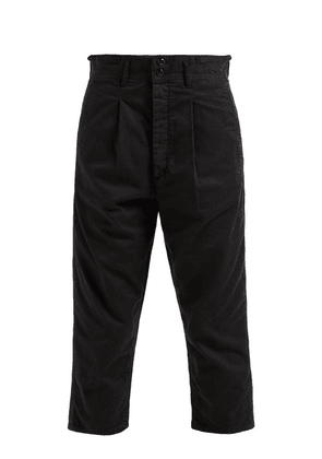 Chimala - High Rise Cropped Cotton Chinos - Womens - Black