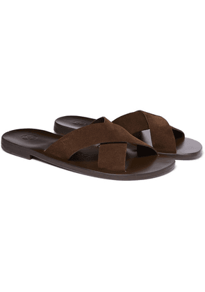 Álvaro - Antonio Suede Sandals - Dark brown