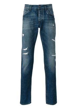 Dolce & Gabbana distressed straight jeans - Blue
