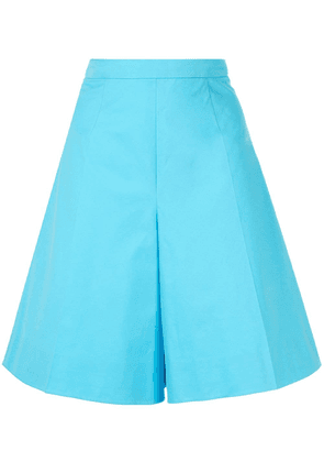Delpozo flared high-rise shorts - Blue