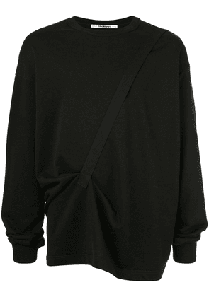 Chalayan classic sweater with a strap - Black