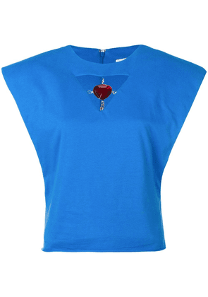 Christopher Kane jewel cut out top - Blue