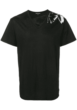 Ann Demeulemeester wings print T-shirt - Black