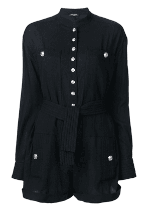 Balmain belted-waist playsuit - Black