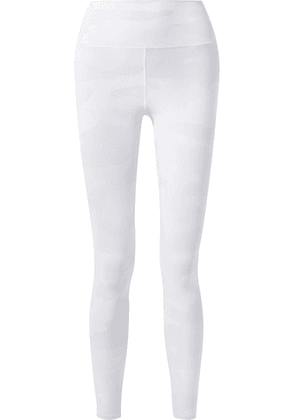 Alo Yoga - Vapor Camouflage-print Stretch Leggings - Off-white