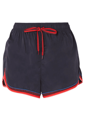 The Upside - Retro Derby Striped Shell Shorts - Navy