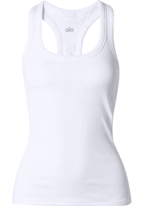 Alo Yoga - Ribbed Stretch Tank - White
