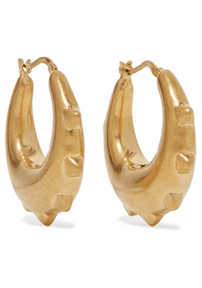 Valentino - Valentino Garavani Gold-tone Hoop Earrings - one size
