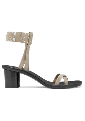 Isabel Marant - Joakee Studded Suede Sandals - Neutral