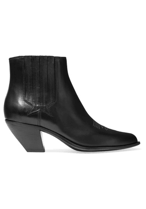 Golden Goose - Sunset Leather Ankle Boots - Black