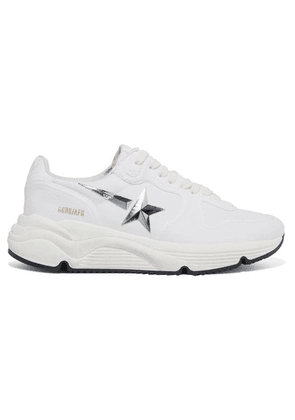 Golden Goose - Running Sole Distressed Canvas Sneakers - White