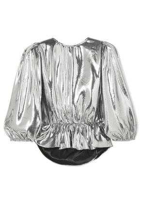 Isabel Marant - Kyama Metallic Silk-blend Top - Silver
