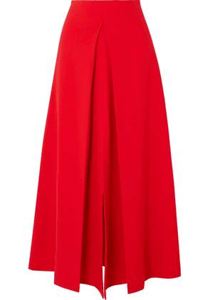 A.W.A.K.E. - Hattori Pleated Cady Skirt - Red