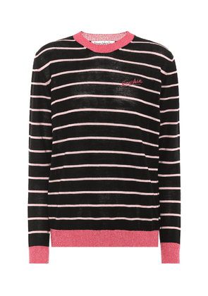 Frenchie striped wool-blend sweater
