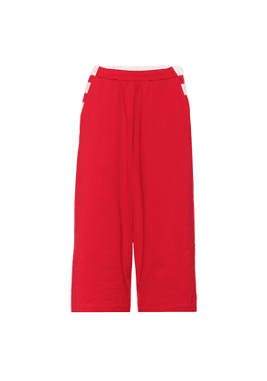 Cropped cotton trackpants