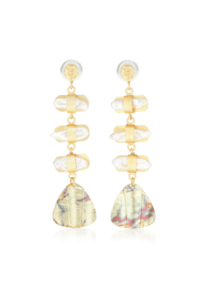 Aroda 14k gold-plated earrings with pearls