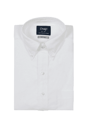 White Regular Solid Oxford Shirt