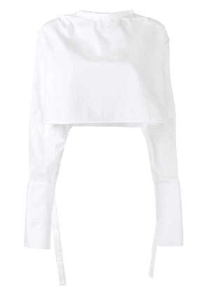 Ellery Hallucinate cropped top - White