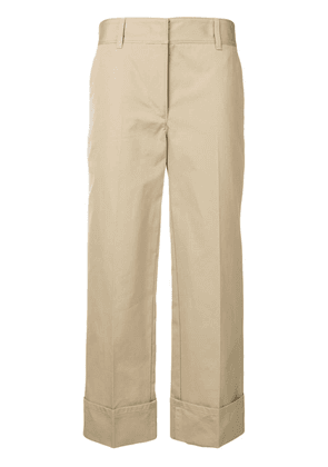 Prada wide-leg tailored trousers - Neutrals