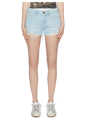 'Le Cut Off' ripped cuff denim shorts
