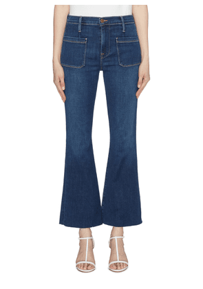 'Le Bardot' cropped flared jeans