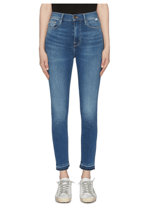 'Ali' let-out cuff skinny jeans