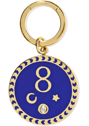 Foundrae - Karma 18-karat Gold, Diamond And Enamel Pendant - one size