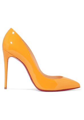 Christian Louboutin - Pigalle Follies 100 Patent-leather Pumps - Yellow