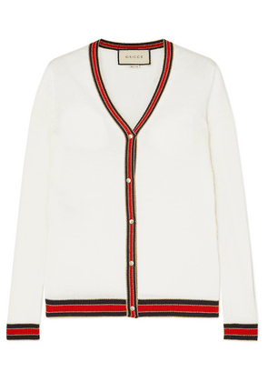 Gucci - Striped Wool Cardigan - Ivory