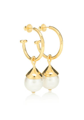 Everyday Pearl 18kt gold-plated earrings