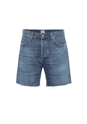 Bailey high-rise denim shorts
