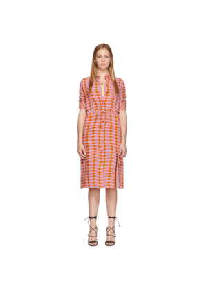 Altuzarra Orange Check Print Dress