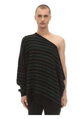 Oversized Asymmetric Jacquard Sweater