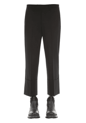Slim Fit Wool Blend Pants