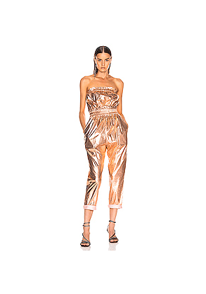 Isabel Marant Timi Overall in Metallic,Pink