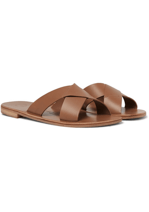Álvaro - Antonio Leather Sandals - Light brown