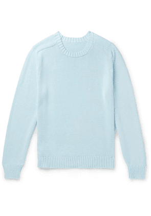 Anderson & Sheppard - Cotton Sweater - Blue