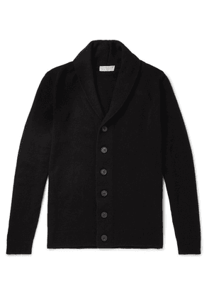 John Smedley - Patterson Shawl-collar Wool And Cashmere-blend Cardigan - Black