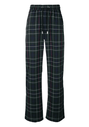 Blood Brother plaid track pants - Blue