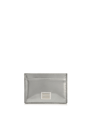 MADDIE Silver Glass Mirror Leather Card Holder