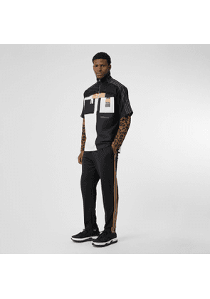 Burberry Icon Stripe Detail Jersey Trackpants, Black