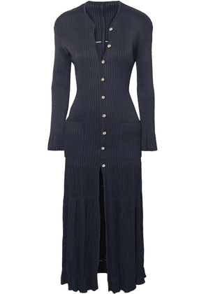 Chloé - Ribbed-knit Cardigan - Navy