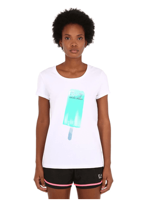 Train Ice Lolly Printed Cotton T-shirt