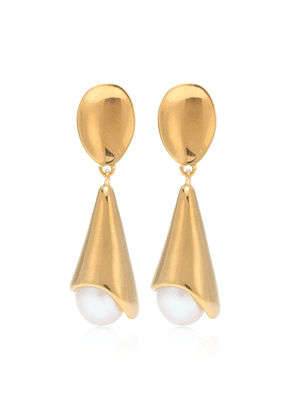 Anna 18kt gold vermeil and freshwater pearl earrings