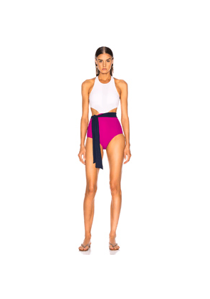 FLAGPOLE Lynn Onepiece With Sash in Pink,Blue,White