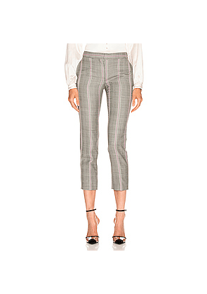 Alexander McQueen Prince of Wales Pant in Gray,Plaid,Pink