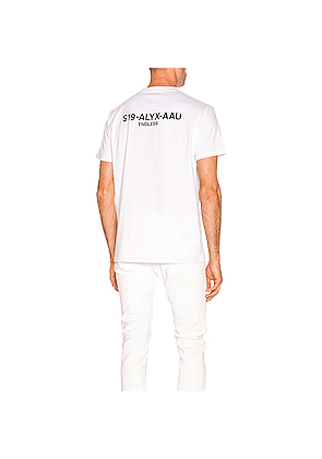 1017 ALYX 9SM Collection Code Tee in White
