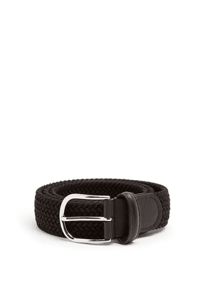 Anderson's - Woven Solid Belt - Mens - Black