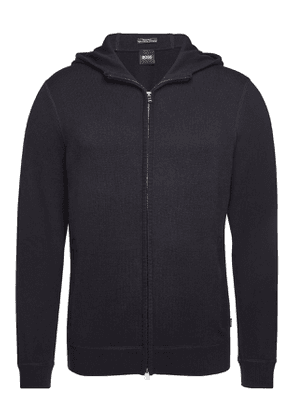 Boss Fiorenzo Hoody with Virgin Wool, Cotton and Cashmere