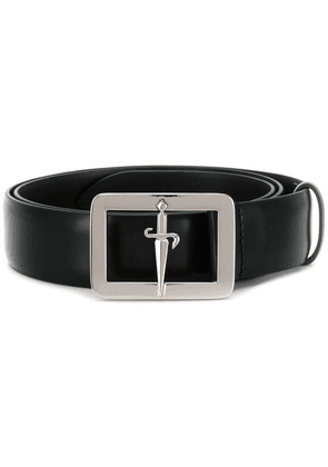 Cesare Paciotti logo buckled belt - Black
